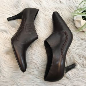 Apt. 9 Brown Leather Heeled Booties